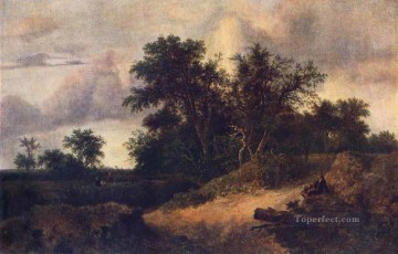 Woods Painting - Landscape With A House In The Grove Jacob Isaakszoon van Ruisdael woods forest