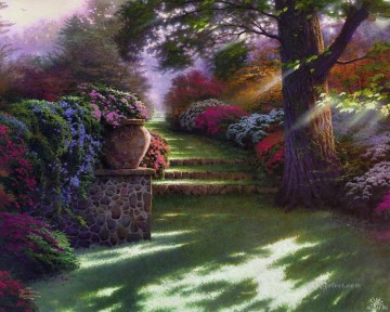 Woods Painting - Pathway to Paradise Thomas Kinkade woods forest