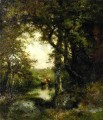 Pool in the Forest Long Island landscape Thomas Moran