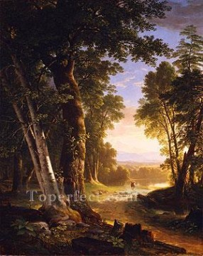 The Beeches landscape Asher Brown Durand woods forest Oil Paintings