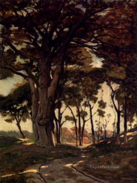 Woods Painting - Woo Barbizon landscape Henri Joseph Harpignies woods forest