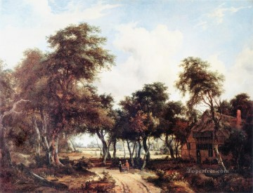 Woodcot landscape Meindert Hobbema woods forest Oil Paintings