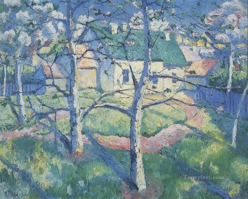 apple trees in blossom Kazimir Malevich woods Oil Paintings