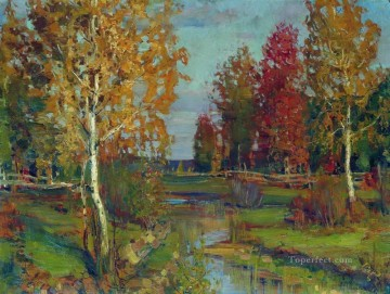autumn Isaac Levitan woods trees landscape Oil Paintings