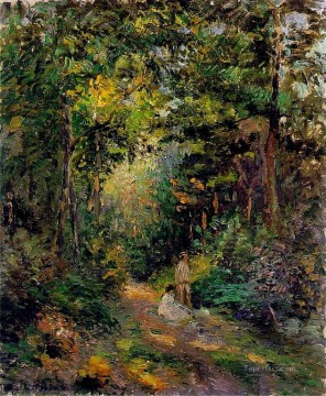 Woods Painting - autumn path through the woods 1876 Camille Pissarro