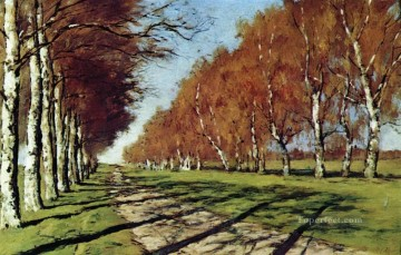 autumn Painting - big road sunny autumn day 1897 Isaac Levitan woods trees landscape