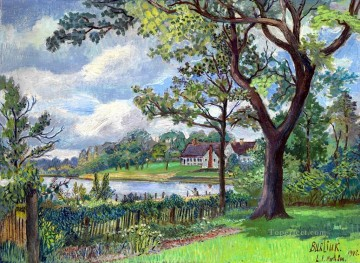 landscape Painting - countryside at summer 1946 landscape