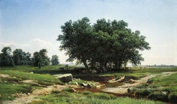 oaks 1886 classical landscape Ivan Ivanovich trees Oil Paintings