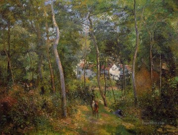 the backwoods of l hermitage pontoise 1879 Camille Pissarro woods forest Oil Paintings