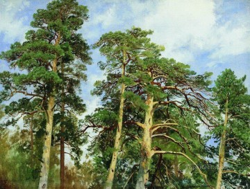 the tops of the pines classical landscape Ivan Ivanovich trees Oil Paintings