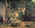 A Thicket of Deer at the Stream of Plaisir Fountaine Realism Gustave Courbet woods forest