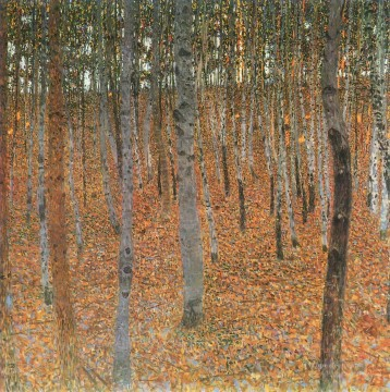 Woods Painting - Beech Grove I Gustav Klimt woods forest