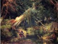 Slave Hunt Dismal Swamp Virginia landscape Thomas Moran woods forest