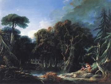 Woods Painting - The Forest Francois Boucher