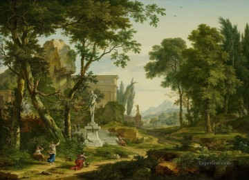 Arcadian landscape Jan van Huysum woods landscape Oil Paintings