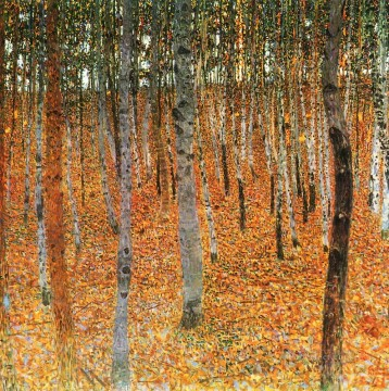 Woods Painting - Beech Grove I red Gustav Klimt woods forest