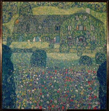 Woods Painting - Country House by the Attersee Gustav Klimt woods forest