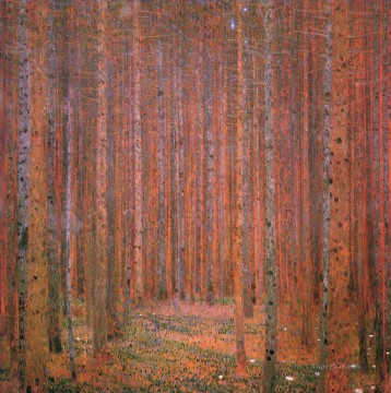 Woods Painting - Fir Forest I Gustav Klimt