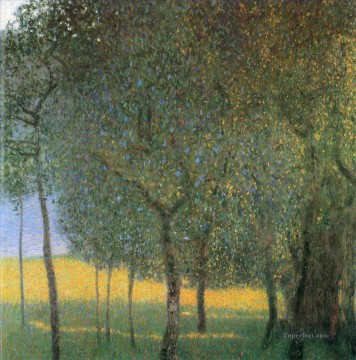 Fruit Painting - Fruit Trees Gustav Klimt woods forest