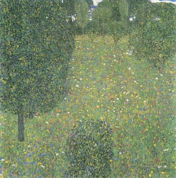Woods Painting - Landscape Garden Meadow in Flower Gustav Klimt woods forest
