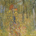 Farm Garden with Crucifix Gustav Klimt woods forest
