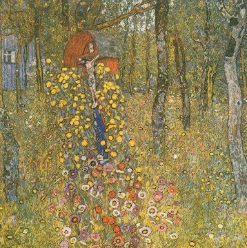 Woods Painting - Farm Garden with Crucifix Gustav Klimt woods forest
