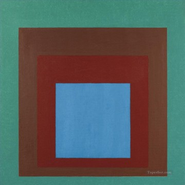 Modern Painting - STUDY TO HOMAGE TO THE SQUARE PROTECTED BLUE Modern