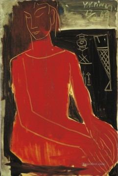 Modern Painting - RED LADY Modern