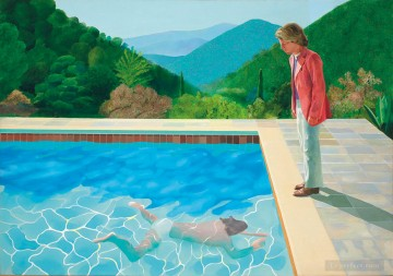 Artworks in 150 Subjects Painting - David Hockney Portrait of an Artist Pool with Two Figures