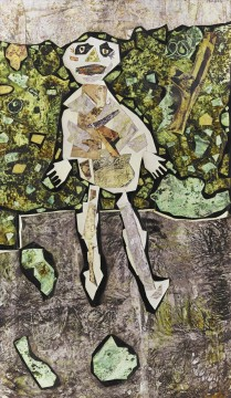 Modern Painting - GEORGES DUBUFFET AU JARDIN Modern