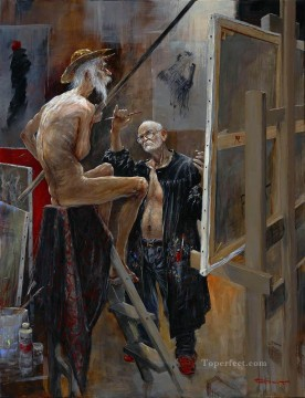 Artworks in 150 Subjects Painting - Don Quichotte  Une rencontre A latelier MP Modern