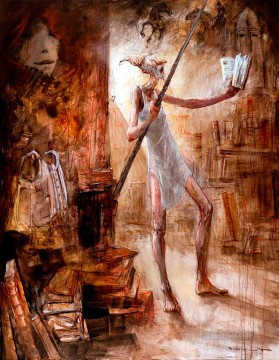 Modern Painting - Don Quichotte La Bibliotheque MP Modern