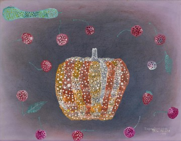 modern Painting - LANDSCAPE WITH PUMPKIN Modern