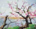 Peach Blossom Dancing in Spring Wind Modern