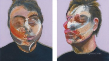 Modern Painting - TWO STUDIES FOR A SELF PORTRAIT Modern
