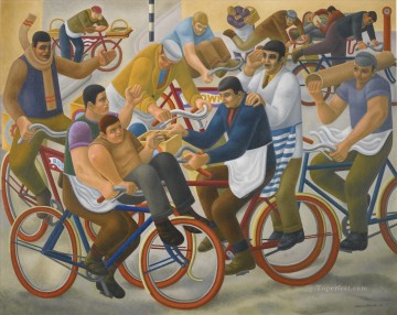 Modern Painting - BICYCLE BOYS Modern