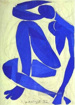 Blue Nude IV Abstract Oil Paintings
