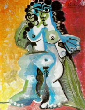 Femme nue assise 1965 Abstract Nude Oil Paintings