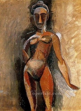Abstract Nude Painting - Femme nue debout 1907 Abstract Nude