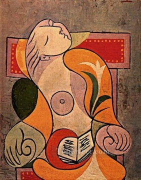 therese works - La lecture Marie Therese 1932 Abstract Nude