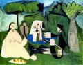 Le dejenuer sur l herbe Manet 1 1960 Abstract Nude