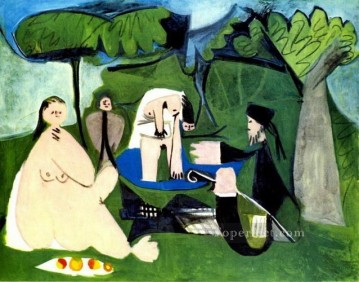 Le dejenuer sur l herbe Manet 1 1960 Abstract Nude Oil Paintings
