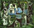 Le dejeuner sur l herbe Manet 11 1961 Abstract Nude