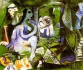 Le dejeuner sur l herbe Manet 3 1961 Abstract Nude