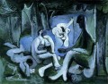 Le dejeuner sur l herbe Manet 6 1961 Abstract Nude
