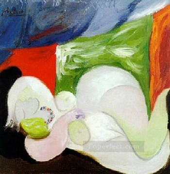 Nu couche au collier 1932 Abstract Nude Oil Paintings