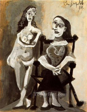 Nu debout et femme assise 1 1939 Abstract Nude Oil Paintings