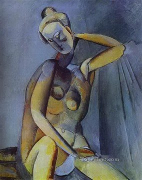 Abstract Nude Painting - Nude 1909 Abstract