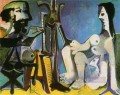 The Artist and His Model 1926 Abstract Nude