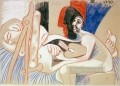 The Artist and His Model 7 1970 Abstract Nude